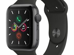 Apple Watch Series 5 GPS Cellular 44mm Space Grey Aluminum Band Sport Black